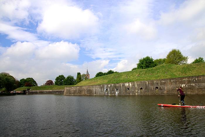 SUP Route Naarden Vesting kasteel muur